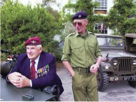 Eric Tripp at the Trebah Military Day Commemoration c2007/8
