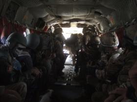 3 PARA exiting aircraft in Afghanistan