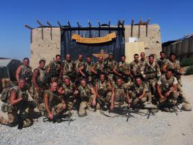 Group photo of 7 Platoon, C (Bruneval) Coy, 2 PARA, Afghanistan, 2008