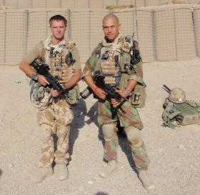 Soldiers from 2 PARA at FOB Gibraltar, Afghanistan, 2008