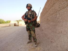 Paras prepare for a patrol from FOB Gibraltar, Afghanistan, 2008