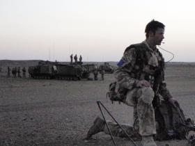 Jay Bateman on patrol, Afghanistan, 2008