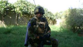 Mark Magreehan on a fighting patrol, FOB Gibraltar, Afghanistan, 2008