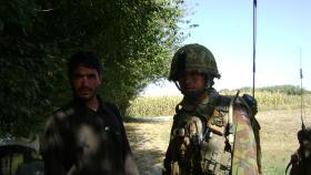 Mark Magreehan at the FOB Gibraltar, Afghanistan, 2008