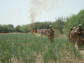 Paras on foot patrol near FOB Gibraltar, Afghanistan, 2008