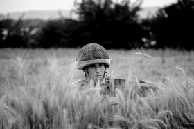 Lance Corporal Nicky Mason on patrol from FOB Robinson, Afghanistan, 2008