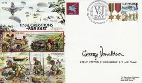 Far East Commemorative Cover signed by Cpt Donaldson