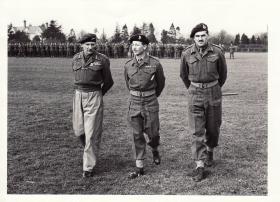 Field Marshal Montgomery, Brigadier Hackett & Maj Gen Urquhart