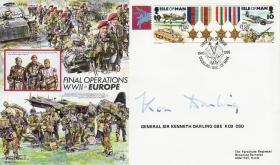 Final WWII Operations Europe Commemorative Cover signed by Gen Sir Kenneth Darling