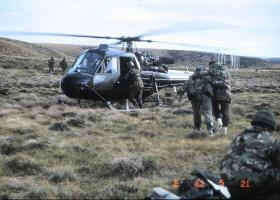 First non battle casualty on 21 May 2 PARA
