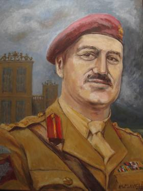 Painting of Brig Edwin Flavell