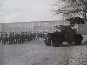 Para Sqn RAC Formation Day Parade with Hornet in the foreground, 3rd Feb 1965
