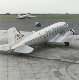 Former C-47 Glider Tug converted to civilian use by Derby Airways.