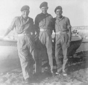 Friends from Mortar Pl, Support Coy, 2 PARA at Kyrenia Harbour, Cyprus, 1956
