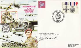 Commemorative Cover Glider Pilot Regiment signed by Shan Hackett