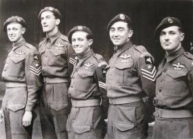 Glider pilots attend their investiture at Buckingham Palace, December 1944