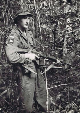 Guardsman T Taylor of Guards Parachute Coy in Singapore, 1962