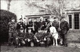 Gen Howlett receives greetings from members of the Regiment on his 60th Birthday, 1990