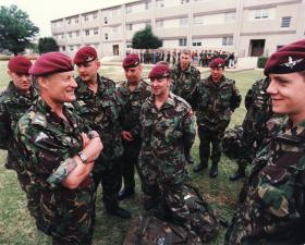 Lt Gen Pike chatting to Paras