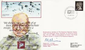Commemorative Cover marking the jubilee anniversary of the formation of British Airborne Forces, dropped by the Red Devils