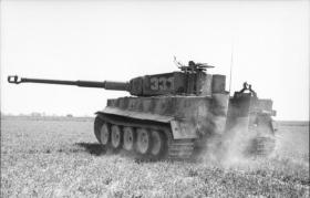 German Panzer VI (Tiger Tank 1) in operation in Northern France