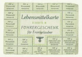 German ration coupons issued to Prisoners of War
