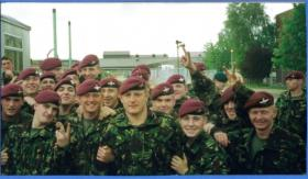 Paratroopers at Brize on jumps course.