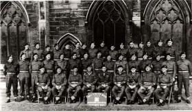 Group photograph of WO and Sgt Mess, 1st Airlanding Light Regiment RA, October 1944