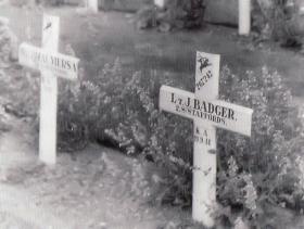 Gravemarker of J Badger, Oosterbeek, Arnhem