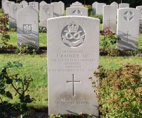 Gravestone of J Badger, Oosterbeek, 2009
