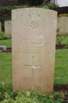Gravestone of WH Burrows, Weston-Super-Mare