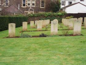 Gravestones of soldiers of the Double Hills glider crash