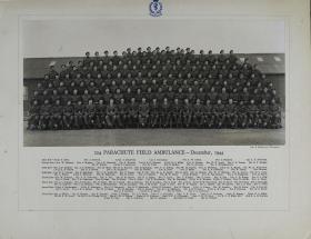 Group Photograph of 224 Parachute Field Ambulance, December 1944