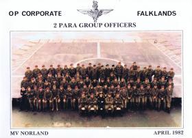 Group portrait of 2 PARA officers, April 1982.