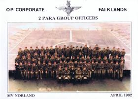 Group portrait of 2 PARA officers, April 1982.
