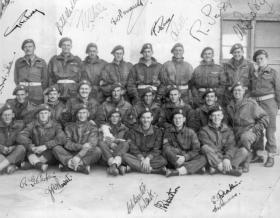 Group photo of 4 Flight, 2 Squadron, 1st Glider Battalion, Patignano, Italy, 1943