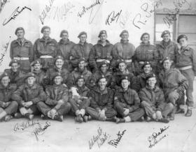 Group photo of 4 Flight, 2 Squadron, 1st Glider Battalion, Patignano, Italy, 1943