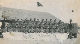 Group Photograph of 583 Parachute Field Battery RA at BHQ, India, c.1946