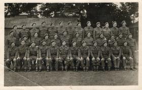 Group photo of 8 Platoon, C Coy, 3rd Parachute Battalion, poss. Spalding, Lincs, 1944