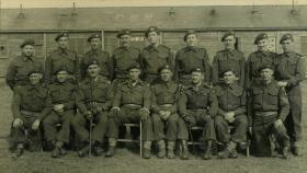 Group photo of A Coy, 13th Parachute Battalion Officers and SNCOs, February 1945.