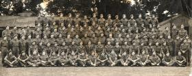 Group photo of C Coy, 3rd Parachute Battalion, possibly Spalding, Lincs, 1944.