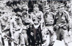 Informal group photo of Guards Para Coy soldiers in Malaya, 1968