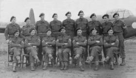 Group photo of No 7 Course at Glider Training School, RAF Kiddlington, 1943