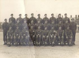 Group photograph for Passing Out Parade, Aldershot, 1953