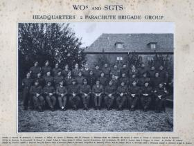 Group photo of the WO's and Sgt's Mess, HQ 2nd Parachute Brigade Group, c.1947