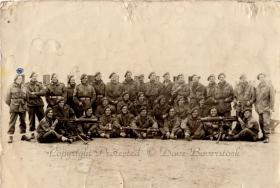 Group photo of the Medium Machine Gun Platoon, 2nd Parachute Battalion, 1943.