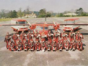 Group photograph of the Red Devils Freefall Team, 1970s