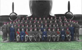 Group photo of A Coy 2nd Parachute Battalion, RAF Abingdon, 1950