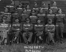 Group photograph of No 102 Glider Development Trial Unit (GDTU), Course 4, c. 1942