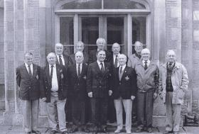 Group photograph of Arnhem veterans from 2 and 3 Troops, 4th Para Sqn RE